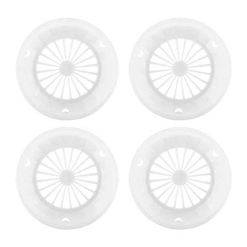 Monllack 4 pcs Plastic Paper Plate Holders Reusable 3-tab Style Picnic BBQ Camping Parties Plate Tableware Barbeque Accessories