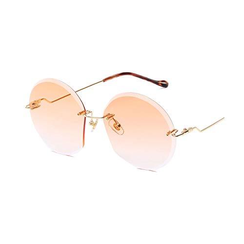 DEER HOUSE Runde Sonnenbrille für Damen, randlos, mit Farbverlauf Gr. Einheitsgröße, A2