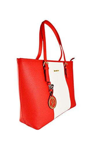 Gallantry - Sac de cours sac à main fille sac lycéenne Rouge/Blanc/Rouge