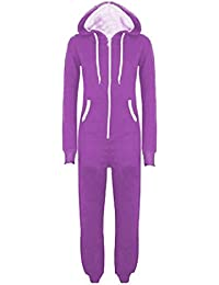 4a666fde31df XCLUSIVE NEW WOMENS MENS ADULT UNISEX HOODED ONESIE JUMPSUIT ALL IN ONE  PIECE FULL…