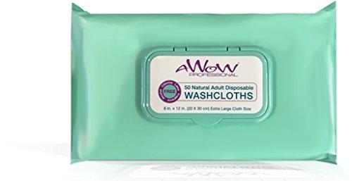 awow Professional Reinigungstücher natur Erwachsene Reinigung Einweg Waschlappen, 48große Inkontinenz natur, AP00075AD, 1, 1