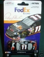 denny-hamlin-11-2006-fedex-express-rookie-year-yellow-rookie-stripes-1-64-action-monte-carlo-joe-gib