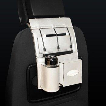 Preisvergleich Produktbild das gebrauchsmuster bezieht sich auf ein multifunktionales auto platz - tasche, ein fahrzeug zurück, hängen beutel, ein leder - fahrzeug - artikel tasche, ein wasser - cup rack und ein papier - box,silber - grau.