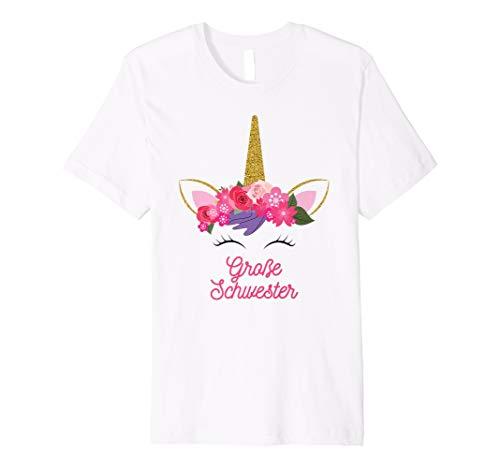 Grosse Schwester Frauen T-shirt (Kinder Einhorn Große Schwester T Shirt für Mädchen)