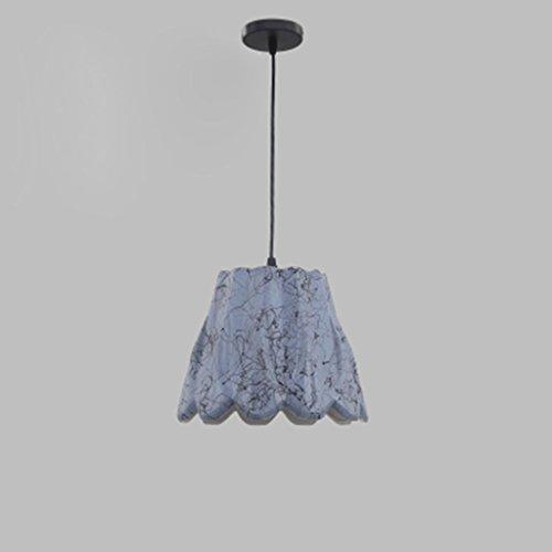 Nordic minimalistischen modernen Kronleuchter kreative Keramik Zeichnung spezielle Design Restaurant Esstisch Bar dekorative Lampen, Lichtquelle E27 * 1, single head b gray - no light source - Keramik Glühbirne-ring