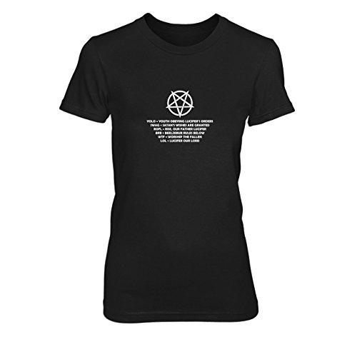 Pentagram Lingo - Damen T-Shirt, Größe: L, Farbe: schwarz
