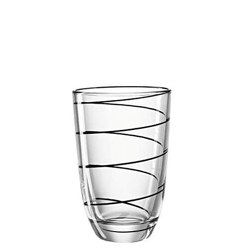 Montana LD Becher :Jolly - Longdrinkglas, Wasserglas, Trinkglas, Gläser-Set, Saftgläser, Set 6-teilig (Schwarz) Montana Glas