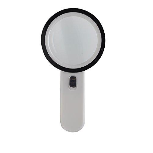 ZALAGO Vergrößerungsglas Handheld LED Leselupen mit 20X Linsen mit 12 LED Lichter