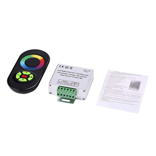 Monllack RF-Controller Wireless RF SMD 5050/3528 RGB-LED-Lichtleiste Touch Dimmer Remote-Controller, DC-Fernbedienung für RGB-LED-Lichtleiste Dc-remote