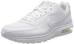 Nike Mens Air Max Ltd 3 Sneaker, White/White-White, 45 EU