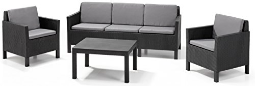 Allibert Lounge Set Chicago 3-seater Grau