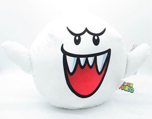 Felpa Boo Fantasma 24cm Original Oficial Super Mario Bros Enemigos Villanos Villains