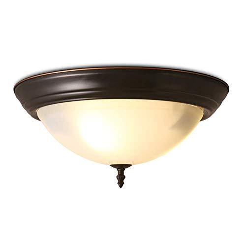 JJLL New Round Flush Mount Thin Deckenleuchte |LED scheibenförmige dünnste runde dimmbare Leuchte |Direkte Drahtlichter |Keine Trockenbauarbeiten erforderlich | Geölte Bronze -