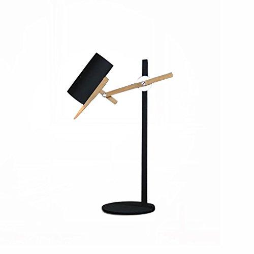 uus Lampe de table en bois massif chambre à coucher en métal lampe de chevet E27 ampoule base 36 * 68cm lumière blanche, lumière chaude (économie d'énergie A +) ( Couleur : Lumière blanche , taille : 36*68cm )
