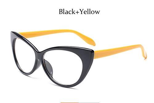 MOJINGYAN Sonnenbrillen Mode Brillen Cat Eye Optische Gläser Frauen Transparente Brillenmarke Designer Vintage Clear Lens Frame, EIN