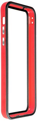 Horny Protectors iP5c-4012c TPU Silikon Schutzhülle für Apple iPhone 5c (nicht 5S) transparent/gelb Rot Schwarz chrome
