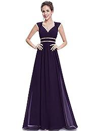 3d87a9e18 Ever-Pretty Vestido de Fiesta Noche Elegante con Cuello en V para Mujer  08697
