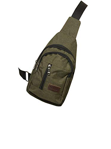 Mesch Sportswear Crossbag Bodybag Pack Bag x-Over Sling Messengerbag Kuriertasche Outdoor (Oliv)