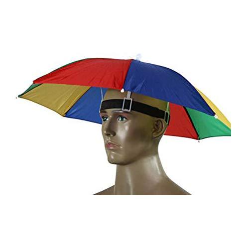 Camping mit Kopfbedeckungen Cap Sonne Regen Regenschirm Hat 55cm Durchmesser 1Stück ()