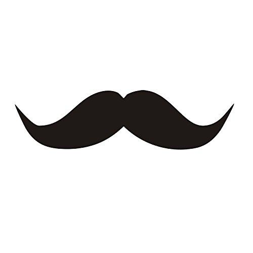 easydruck24de 1 Sticker Schnurrbart Mustache I kfz_120 I 14 x 3,6 cm groß I Schnäuzer Auto-Aufkleber PKW Motorrad Mofa Roller Laptop Motiv lustig wetterfest