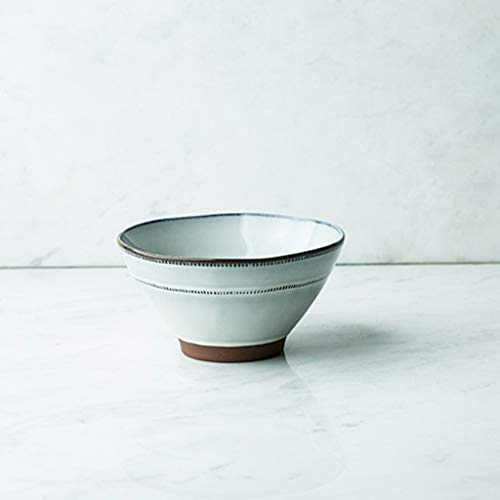 Bol - Personnalité créative de l'Ouest 6,5 pouces ménage bol en céramique ronde Ramen Bowl bleu/gris/blanc bols Set tableware (Couleur : Gray)