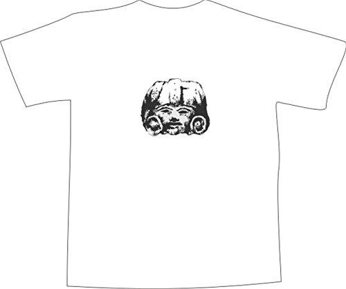 T-Shirt E045 Schönes T-Shirt mit farbigem Brustaufdruck - Logo / Comic ...
