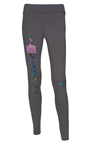 Yogamasti donna Synergy Chakra Leggings da Yoga, Granite Gray