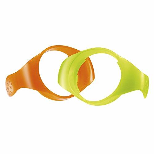 Chicco Griffe für Babyfläschchen Wohlbefinden, sortiert in Orange/Grün und Gelb/Blau