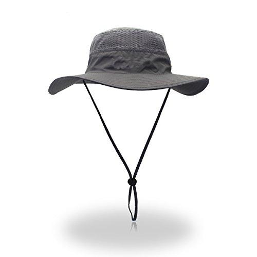 Saoirse Sonnenhut UV-Schutz Sommer Outdoor Bergsteigen Wandern Angeln Cap (Weg Hut Verstellbarer)
