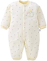 XIUBEIXING Fille Combinaison Barboteuse Bébé Hiver Epaisse Coton  Rose Grenouillère Pyjama Chou Mignon Cadeau b4fb0935c46