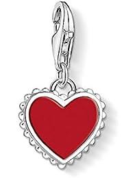 Thomas Sabo Damen Anhänger rotes Herz 925 Sterling Silber 1564-337-10