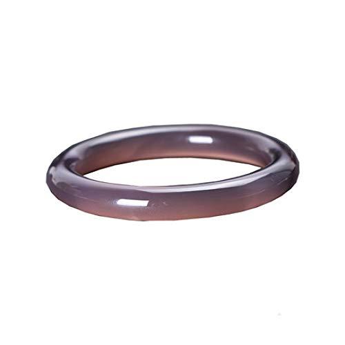 JunBo Armband, Natürlicher Chalcedon, Lila Achat Armband