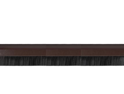 MQ Türleiste mit Bürste Türbürste Bürstenleiste Tür Leiste Zugluft-Stop Zugluft-Stopper 4mm braun