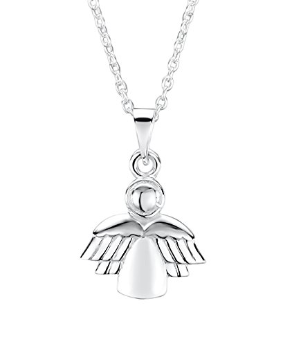 Jo For Girls Silver Children's Guardian Angel Pendant on 35.5cm Chain