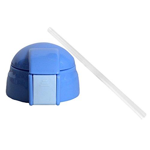 non-brand MagiDeal Universal Ersatz Trinkbecher Kunststoff Deckel mit Strohhalm - Hellblau (Universal-deckel Strohhalm)