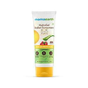 Mamaearth HydraGel Indian Sunscreen SPF 50, With Aloe Vera & Raspberry, for Sun Protection - 50g