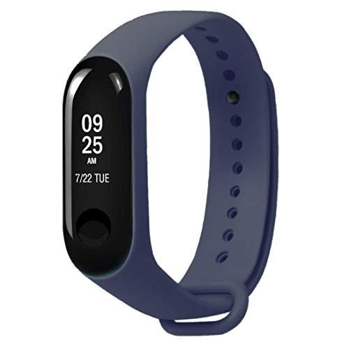 Xiaomi Mi Band 3 Fitnessarmband mit Herzfrequenzmessung, Armband: Silikon Dunkelblau, inkl. Wechselarmband: Schwarz - Silikon ...