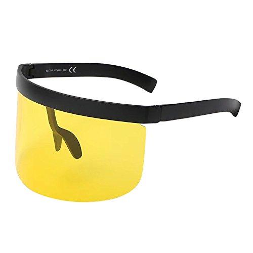 iCerber Unisex Vintage Sunglasses Retro Übergroßer Rahmen Hut Eyewear Praktischer Hut