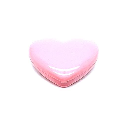 JunYe Liebe Herzform Leere Lidschatten Fall Rouge Lippenstift Box Pigment Palette nachfüllbar Foundation Make-up-Spender mit Aluminiumpalette Spiegel - Rosa -
