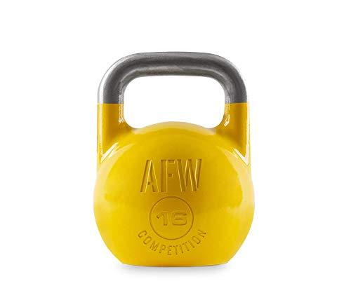 AFW Competition Kettlebell, Pesa Rusa, Adultos Unisex, Amarillo, 16 kg