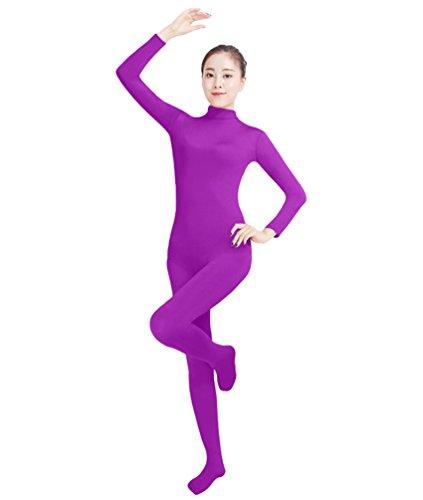 NiSeng Erwachsener und Kind Ganzkörperanzug Anzug Kostüm Ganzkörperanzug Halloween Kostüme Violett 3XL (Violett Halloween-kostüm)