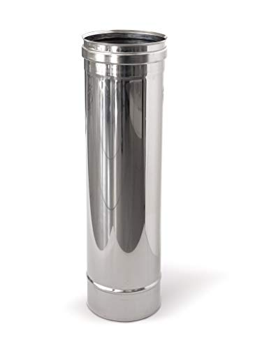 Tubo in acciaio inox per canne fumarie L1000mm (DN 100)