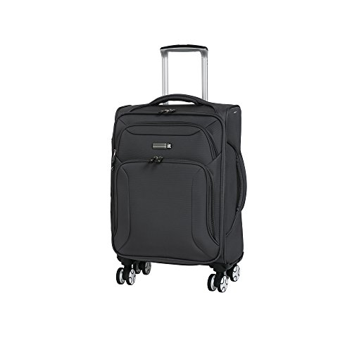 it luggage Fascia 8 Wheel Lightweight Semi Expander Suitcase Cabin Koffer, 56 cm, 46 liters, Grau (Magnet)