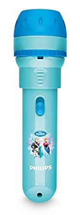 Philips Disney Frozen Children's Projector Torch and Night Light Integrated LED, 0.3 W
