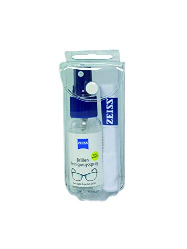 ZEISS Brillen-Reinigungsset, alkoholfrei (Spray 30ml + Mikrofasertuch), zur professionellen Reinigung der Brillengläser