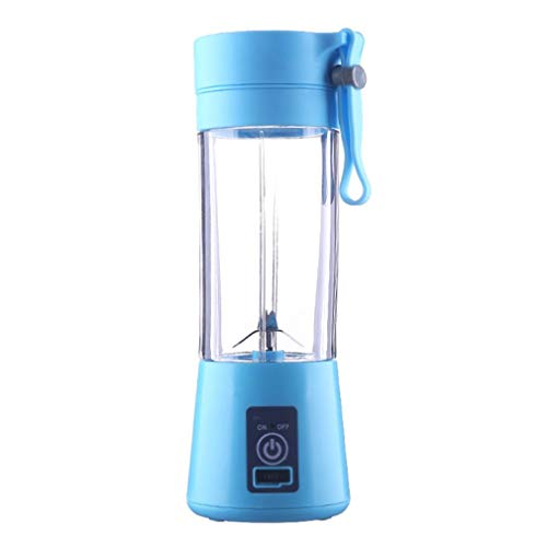 Rechargeable Portable Electric Fruit Juicer Smoothie Maker Blue ()
