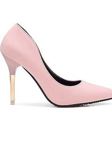 WSS 2016 Chaussures Femme-Mariage / Habillé / Soirée & Evénement-Noir / Rose / Gris-Talon Aiguille-Talons-Talons-Similicuir pink-us7.5 / eu38 / uk5.5 / cn38