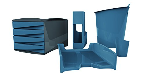 Fellowes Komplettset G2Desk aus 80% Recylingmaterial, 7-teilig, blau