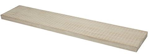 Duraline 1181696 38 x 118 x 23.5 cm Floating Wall Shelf, Natural Paulownia Wood