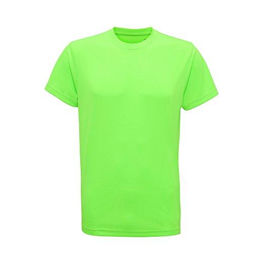 Tri Dri Herren Fitness T-Shirt, Kurzärmlig (L) (Neon Grün)